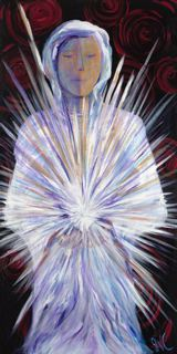 P133 - Angel of Breakthrough (original acrylic on canvas 24x48)
