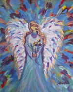 M1128 Angel of Joy ~ Limited edition 11x14 print matted to 16x20