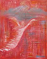 P055 - Fire Bride (enhanced giclee print on canvas 20x24)