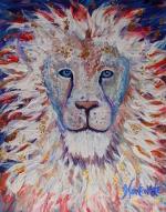 In His Eyes ~ 20x24 original acrylic on canvas