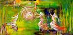P0001 - Dancing Down Heaven (Giclee print on canvas 9x18)
