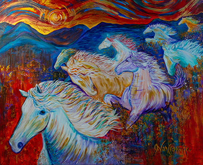 New Beginnings ( 11x14 giclee enhanced canvas print stretched)