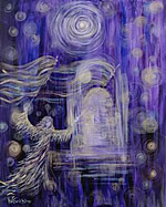 P156 - Visitation of God (enhanced giclee print on canvas 16x20)