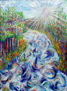 P046 - River of Life (enhanced giclee print on canvas 18x24)