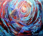 K0073 - Portal of Praise (Original acrylic  48x34  gallery wrapped)