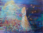 Dwelling in the Garden of Love ~ Original acrylic on canvas